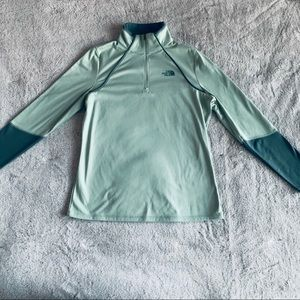 The North Face mint green pullover jacket